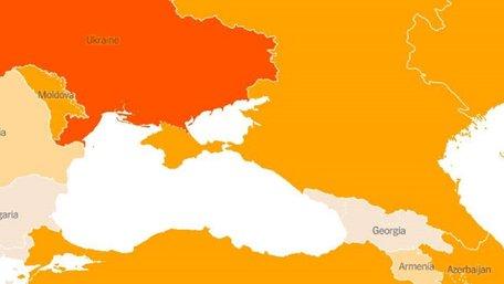 The New York Times опублікувала карту з російським Кримом