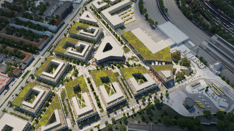 Зелений квартал з офісами, готелями і без житла