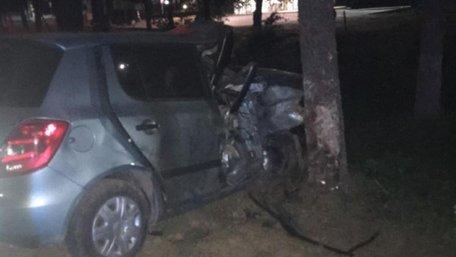 В Ужгороді п'яна 23-річна водійка Skoda влетіла в дерево, загинула 19-річна пасажирка