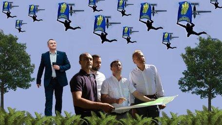 Зеленський косплеїть Порошенка, банери Садового, списки «ЄС»