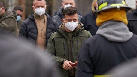 Зеленський не пов'язує пожежі на Луганщині з обстрілами бойовиків