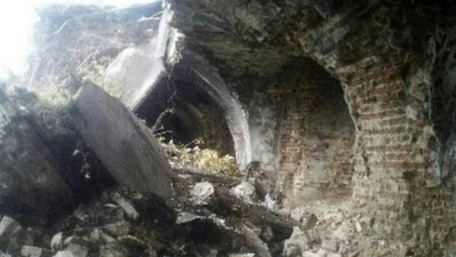У комплексі Бродівської фортеці обвалилася частина казематів