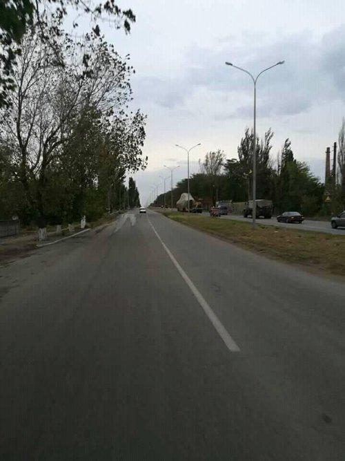 Бронекатер під час транспортування в Бердянську