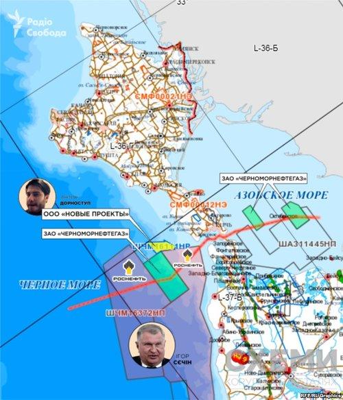 Родовище розташоване поблизу Керченськоъ протоки