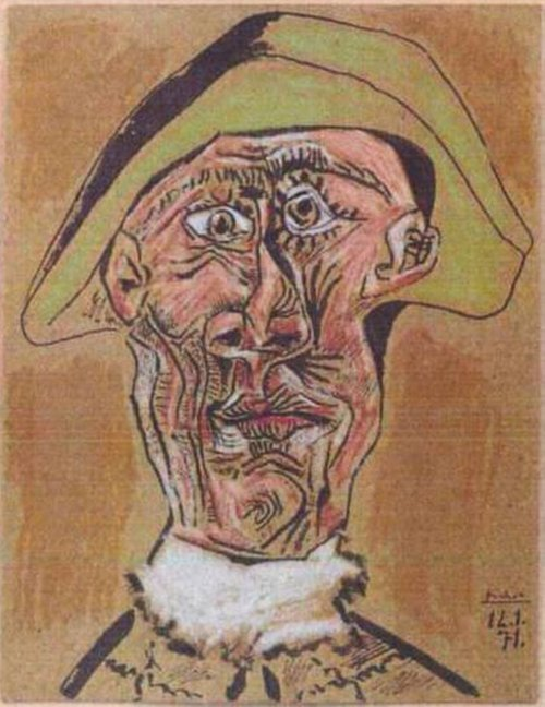Картина Пабло Пікассо «Tête d'Arlequin»