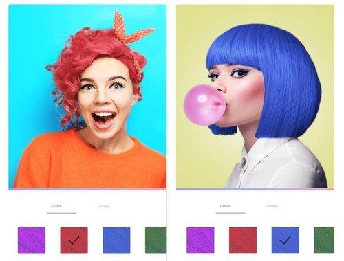 Teleport реалістично змінює колір волосся на селфі-знимках