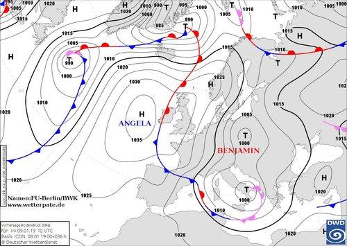 Циклон над Європою 9 січня