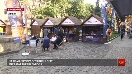 У Львові розпочався Ярмарок партнерства. Участь у ярмарку беруть п'ять міст-партнерів Львова