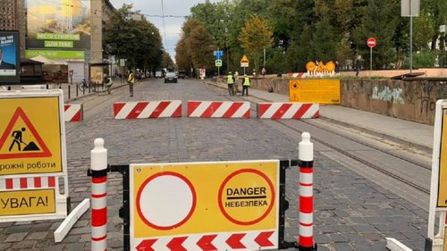 Частину вулиці Бандери закрили на реконструкцію. Трамвай №1 та п'ять автобусних маршрутів змінили схеми руху, а трамвай №7 тимчасово не курсуватиме