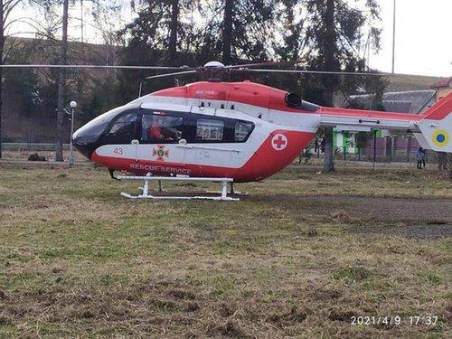 Уперше пацієнтку до львівської лікарні доправили медичним гелікоптером