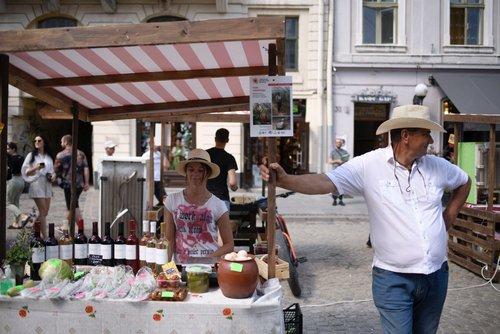 У центрі Львова відкрили фермерський ярмарок