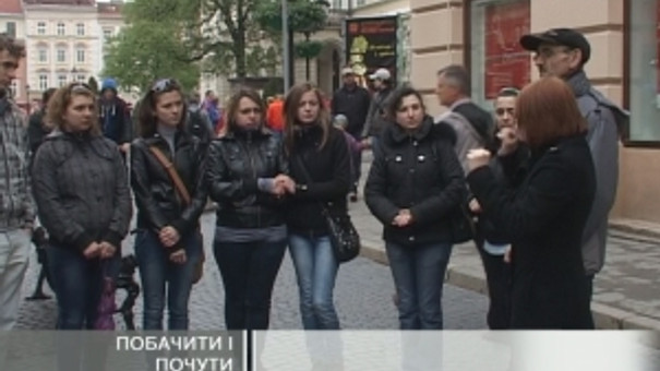 Студентам із вадами слуху провели екскурсію Львовом