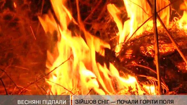 На Львівщині почали підпалювати поля