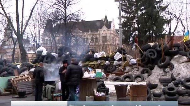 Через барикади біля Львівської ОДА центр міста потерпає від заторів