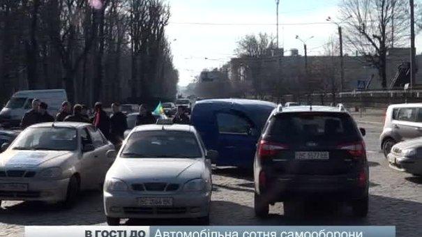 Активісти автомобільної сотні роздали запрошення для депутатів-прогульників
