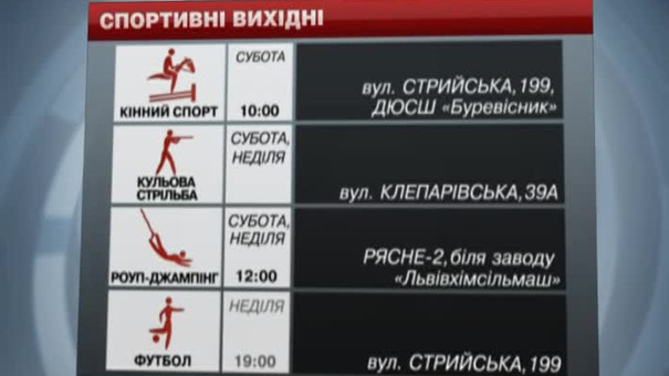 У Львові на вихідних гратимуть у футбол, їздитимуть на конях та стрибатимуть із багатоповерхівки