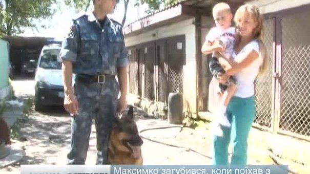 Чотирирічного хлопчика, який заблукав, знайшов собака Тайфун