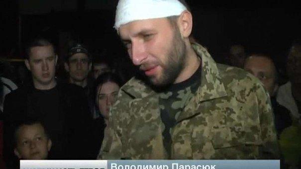 Пораненого Парасюка зустріли у Львові як героя