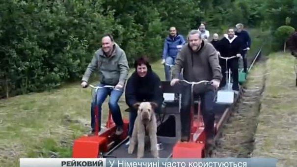 У Львові випробували рейковий велосипед