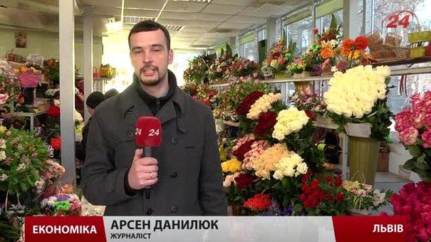 У День Святого Валентина ціни на квіти зростуть на 5-10 грн