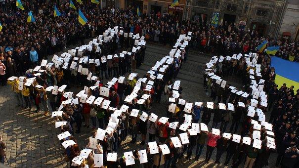 «Ще не вмерла...»: понад тисяча львів'ян одночасно виконали державний гімн