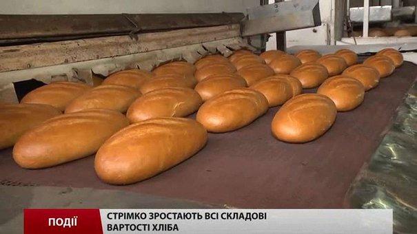 Стрімко зростають всі складові вартості хліба