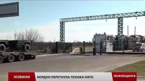 Український кордон на Львівщині перетнула бронетехніка НАТО
