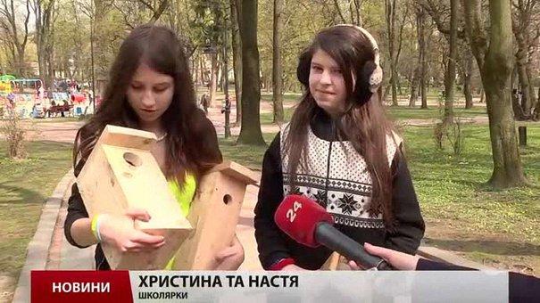 У львівських парках розвішали 40 синичників