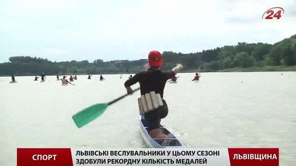 Львівські веслувальники у цьому сезоні завоювали рекордну кількість медалей
