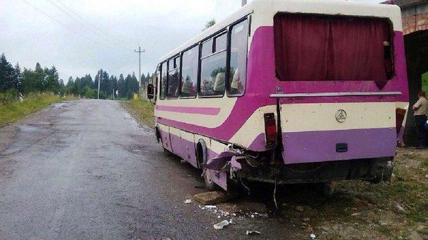 Рейсовий автобус на Львівщині з'їхав у кювет: серед постраждалих двоє дітей
