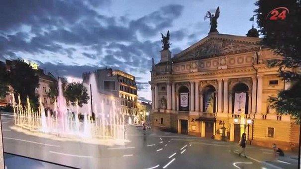 Фонтан перед львівською Оперою буде світло-музичним і з метеостанцією