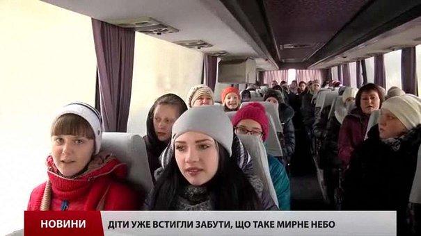 На різдвяні свята до Львова приїхали вихованці інтернату з Луганщини