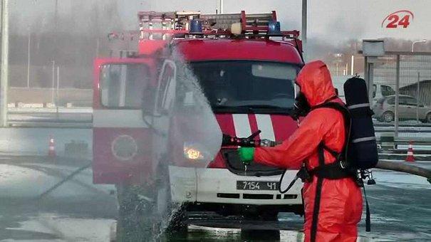 Рятувальники гасили пожежу на «Арені Львів»