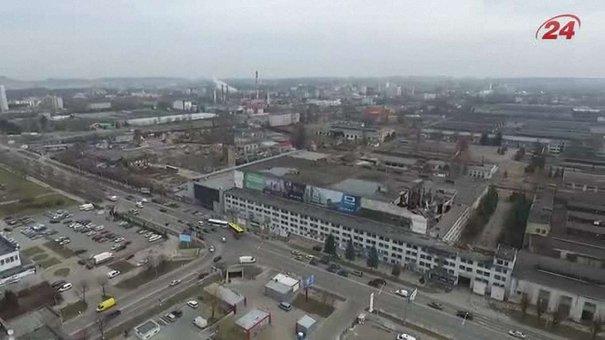 Територію ЛАЗу вперше зняли з квадрокоптера
