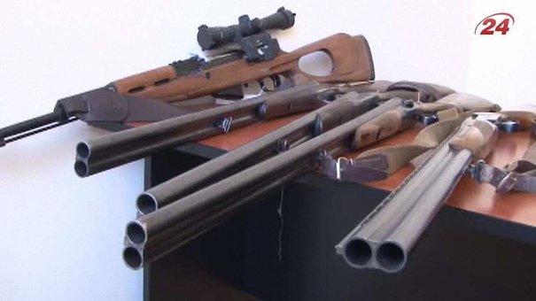За два тижні львів'яни здали у поліцію 78 одиниць незаконної зброї