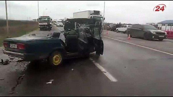 На об'їзній Львова п'яний водій позашляховика вщент розбив «Жигулі»