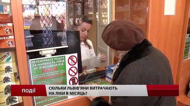 Скільки львів'яни витрачають на ліки в місяць?