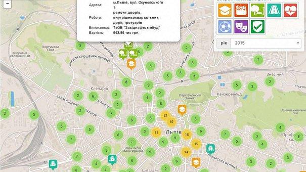 У Львові запрацювала онлайн-карта, де можна відслідкувати ремонти біля вашого дому