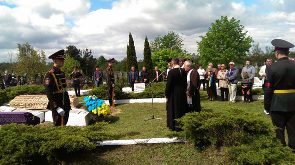 На Львівщині перепоховали останки бійців, які загинули у двох світових війнах