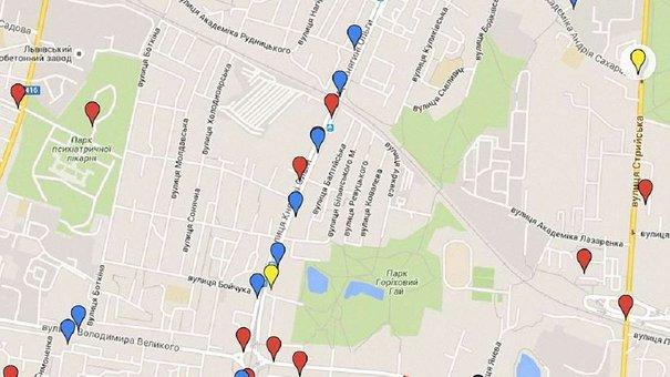Патрульна поліція Львова створила онлайн-карту ДТП з потерпілими