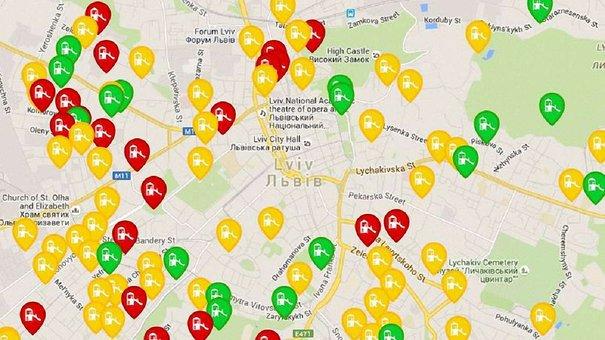 Дитячі та спортивні майданчики Львова зібрали в інтерактивну карту