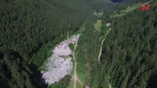 У серці Карпат 10 років діє незаконне сміттєзвалище: ексклюзивна аерозйомка