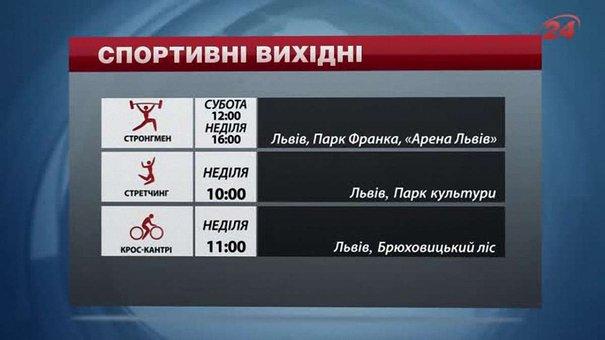 На вихідних у Львові відбудуться змагання зі стронгмену та крос-кантрі