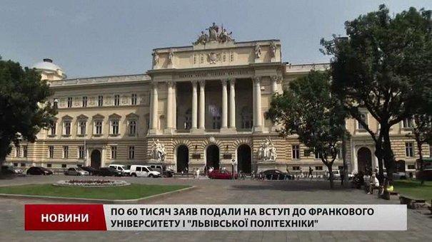 Топ-виші Львова б'ють рекорди за кількістю поданих заяв від абітурієнтів