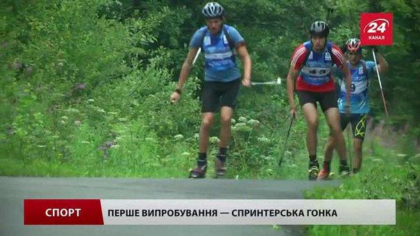 У Тисовці біатлоністи їздять на лижах по асфальту