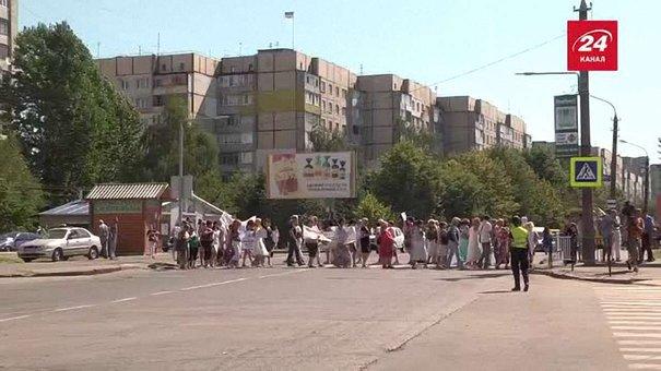 Працівники перинатального центру у Львові перекрили вулицю Вашингтона