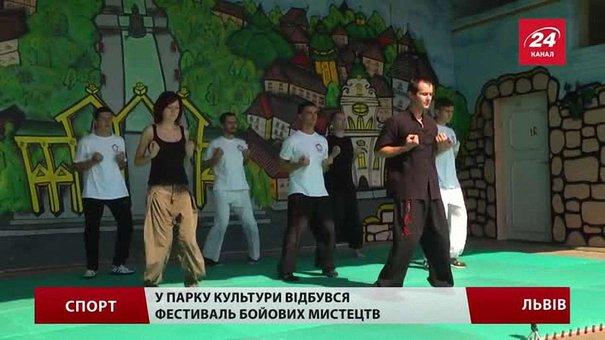 У Парку культури львів'янам демонстрували бойові мистецтва