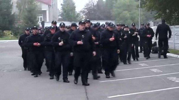 Львівські патрульні вшанували пам'ять загиблих колег із Дніпра хвилиною мовчання
