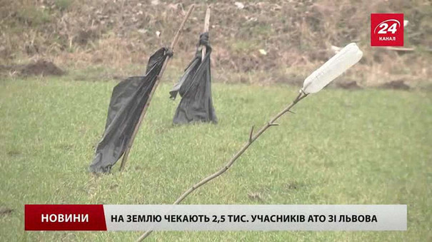 Обіцяну державою землю отримало близько 700 учасників АТО зі Львова