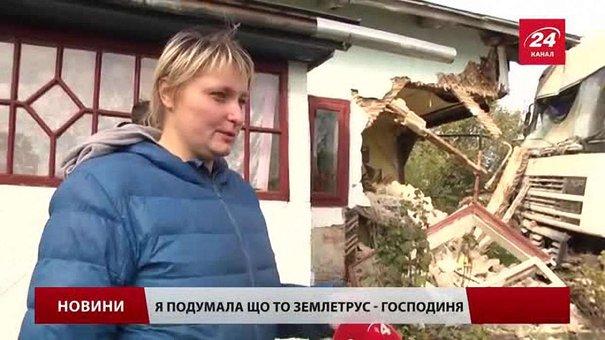 До зіткнення з хатою на трасі Київ-Чоп водій вантажівки гальмував 50 метрів
